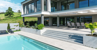 Bespoke 3-storey prefab home with pool